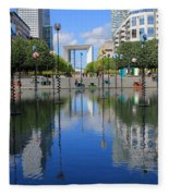 Paris La Defense 3 Fleece Blanket