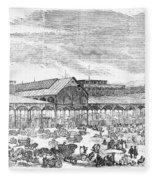 Paris: Les Halles, 1858 Fleece Blanket
