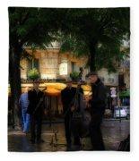 Paris Musicians Fleece Blanket