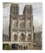 Paris: Notre Dame, C1820s Fleece Blanket
