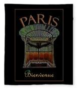 Paris Poster Art 1 Fleece Blanket