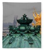 Paris Rooftops 1 Fleece Blanket