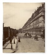 Paris: Rue De Rivoli, C1900 Fleece Blanket