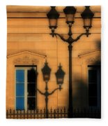 Paris Shadows Fleece Blanket