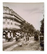 Paris: Street Scene, 1890 Fleece Blanket
