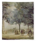 Paris: Tuilerie Gardens Fleece Blanket