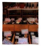 Paris Wine Shop Fleece Blanket