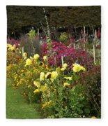 Parisian Park Morning Garden Fleece Blanket