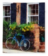 Parked Bicycle Fleece Blanket