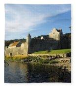 Parkes Castle, Co Leitrim, Ireland Fleece Blanket