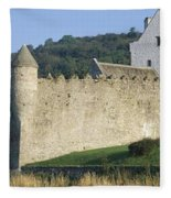 Parkes Castle,co Sligo,irelandpanoramic Fleece Blanket