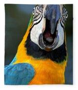 Parrot Squawking Fleece Blanket