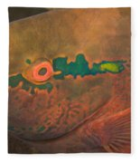 Parrotfish Scaridae Fleece Blanket