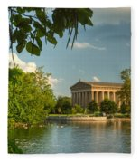 Parthenon At Nashville Tennessee 13 Fleece Blanket
