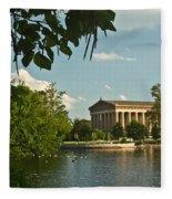 Parthenon At Nashville Tennessee 2 Fleece Blanket