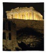 Parthenon Athens Fleece Blanket
