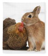 Partridge Pekin Bantam With Rabbit Fleece Blanket