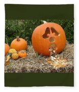 Party Pumpkin Fleece Blanket