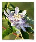 Passion Flower - May Pop Bloom Fleece Blanket