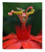 Passion Flower Crown Fleece Blanket
