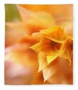 Passion For Flowers. Orange Delight Fleece Blanket