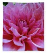 Pastel Pink Dahlia Fleece Blanket