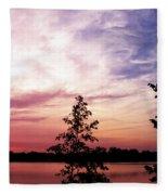 Pastel Pink Sunset Fleece Blanket
