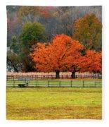 Pastoral Autumn Fleece Blanket