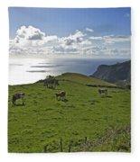 Pastoral Landscape Of Santa Maria Island Fleece Blanket