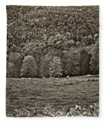 Pastoral Sepia Fleece Blanket