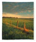 Pasture Sunrise Fleece Blanket