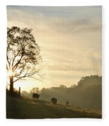 Pasture Sunrise Fleece Blanket