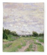 Path Through The Vines At Argenteuil Fleece Blanket