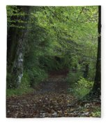 Path Through The Woods Inistioge Fleece Blanket
