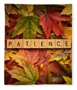 Patience-autumn Fleece Blanket