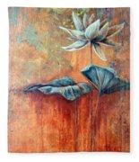 Patina Lotus Fleece Blanket