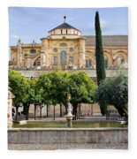 Patio De Los Naranjos At Mezquita In Cordoba Fleece Blanket