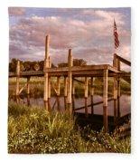 Patriotic Dock Fleece Blanket