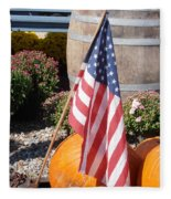 Patriotic Farm Stand Fleece Blanket