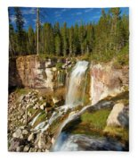 Pauina Falls Overlook Fleece Blanket