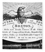 Paul Revere: Trade Card Fleece Blanket