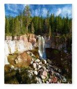 Paulina Falls At Newberry Fleece Blanket