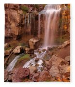 Paulina Falls Sunset Fleece Blanket