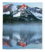 Paulina Lake Reflections Fleece Blanket