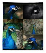 Pavo Cristatus IIi The Heart Of Solitude  - Indian Blue Peacock  Fleece Blanket
