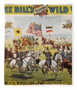 Pawnee Bill Poster, 1895 Fleece Blanket