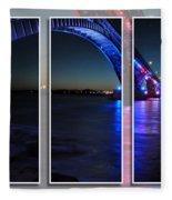 Peace Bridge 01 Triptych Series Fleece Blanket