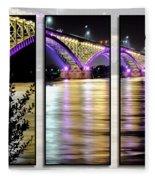 Peace Bridge 02 Triptych Series Fleece Blanket