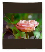 Peace Rose Fleece Blanket
