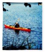 Peaceful Canoe Ride Ll Fleece Blanket